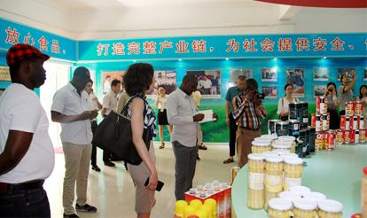 The two products of purple mountain were selected as food for the brics meeting.