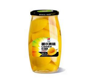 糖水黄桃罐头1055g