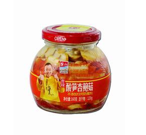酸笋杏鲍菇玻璃罐