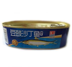 canned sardines with black bean 184G