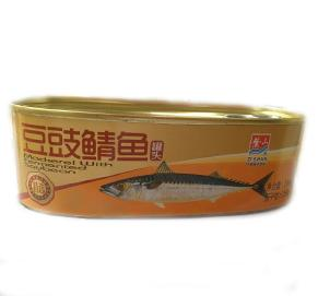 canned mackerel with black bean 184G